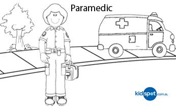 Paramedic - Printables - Colouring Pages   Paramedic ...