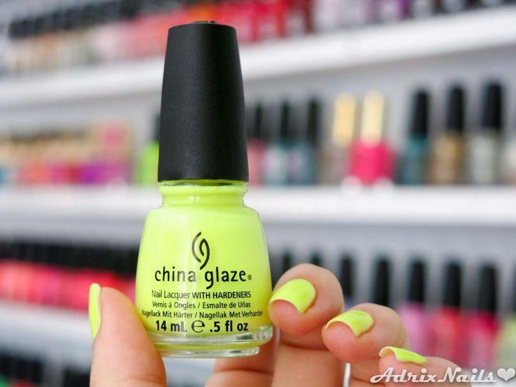 China Glaze - Celtic Sun- #nails #nailart #esmaltes #neon #ChinaGlaze #CelticSun