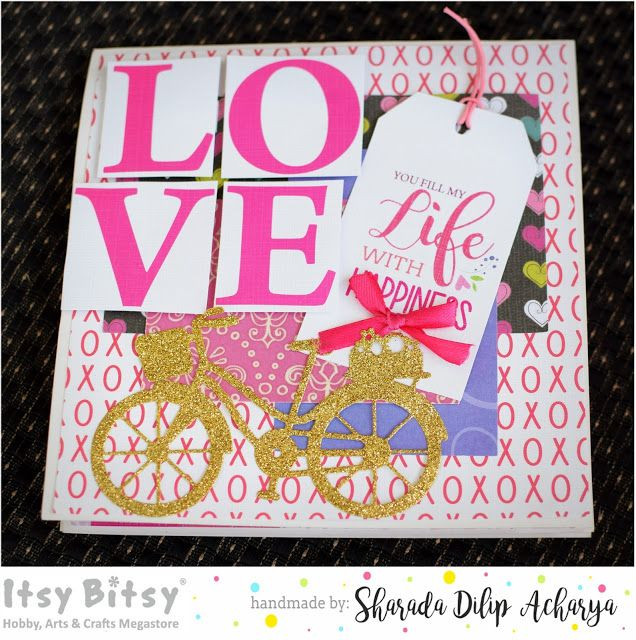 Itsy Bitsy - The Blog place: Love is in the air Flip album with Thin cut dies