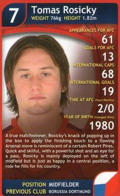 2009 Top Trumps Specials Arsenal #NNO30 Tomas Rosicky Front