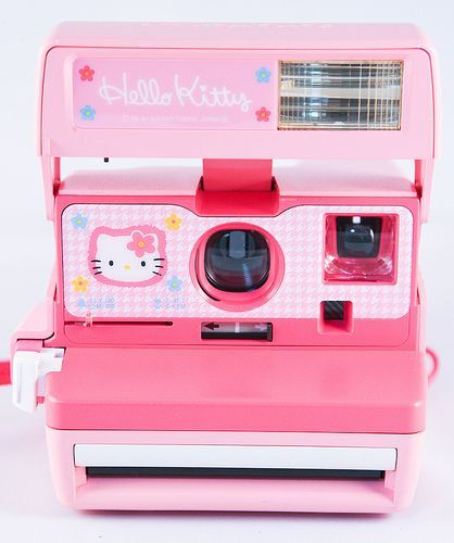 Hello Kitty Polaroid Camera and like OMG! get some yourself some pawtastic adorable cat apparel!