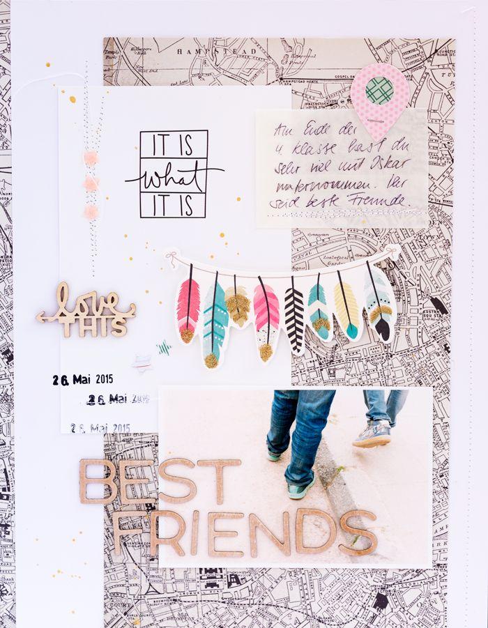 mojosanti ♥ Sandra Dietrich: 'Best friends' layout I Gossamer Blue