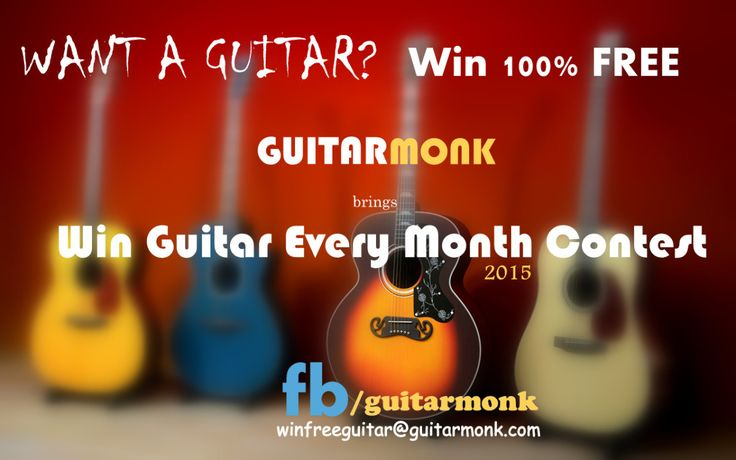 Win Free Guitar Contest is a volunteer and free initiative by guitarmonk to engage music interest, promote music activity and local music learning. The other idea behind this initiative is to motiv...