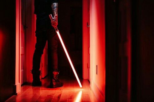 Now I'm just seeing Dreelin and Cynric having a full-fledged lightsaber war in the flat with all of the lights off