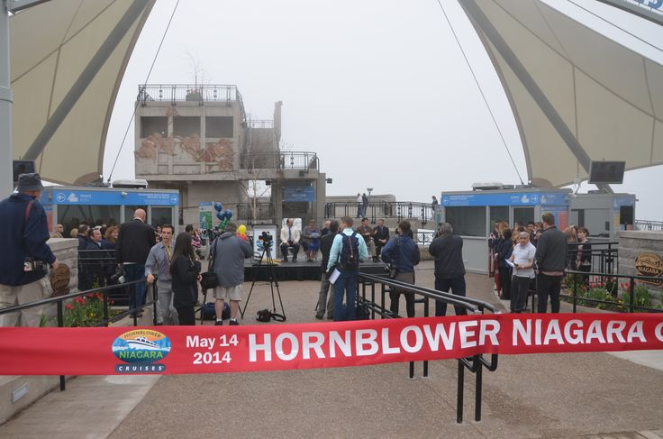At the Hornblower Plaza for the Hornblower Niagara Cruises Ribbon Cutting Ceremony