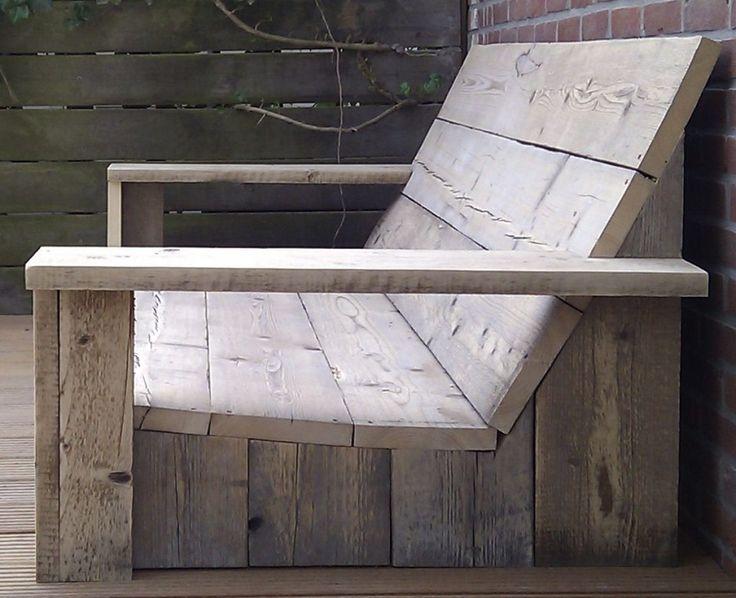Loungebank van hout