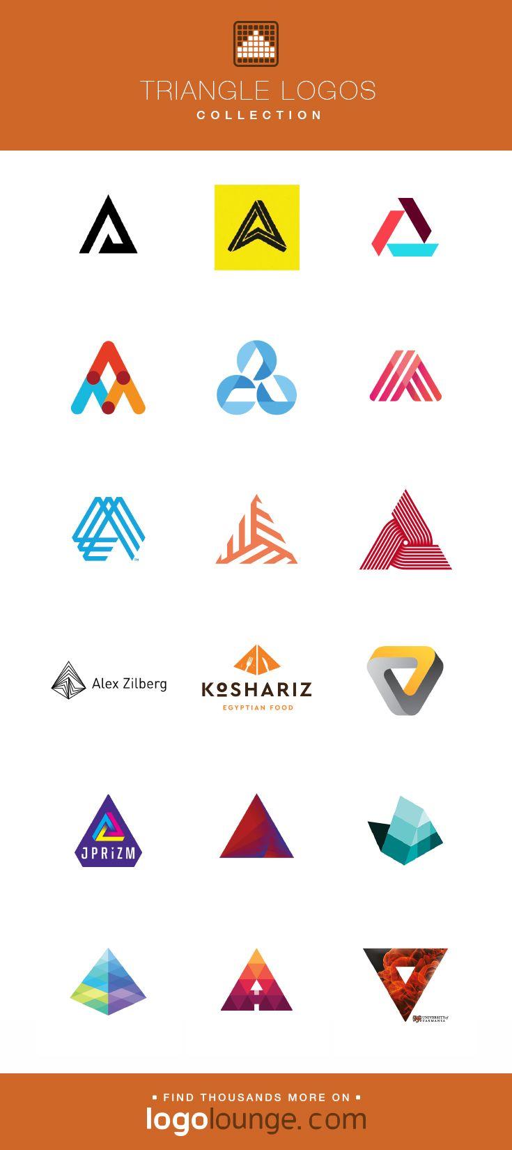 Logo Collection Triangle Vector Logo Designs Geometry Shape Three Point Arrow Logo Triangle Vector Logo Design Logo Shapes Branding Design Logo