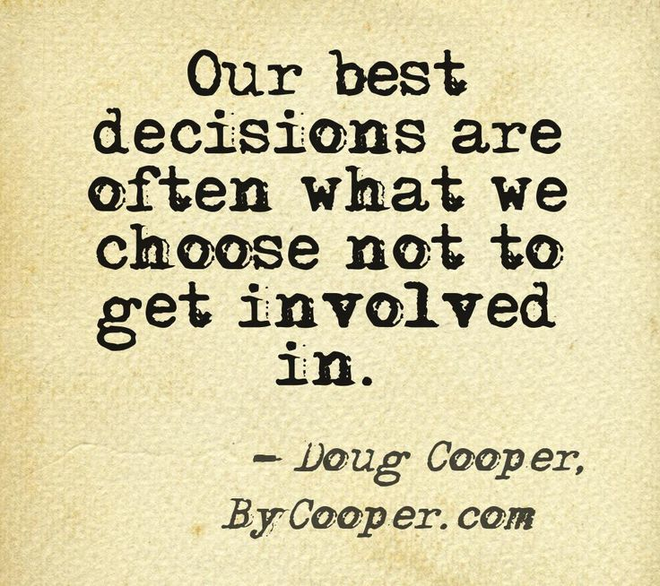 Quote on avoiding drama by Doug Cooper, author of Outside In