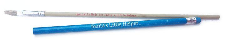 Santa's Little Helper Pencil & Paintbrush