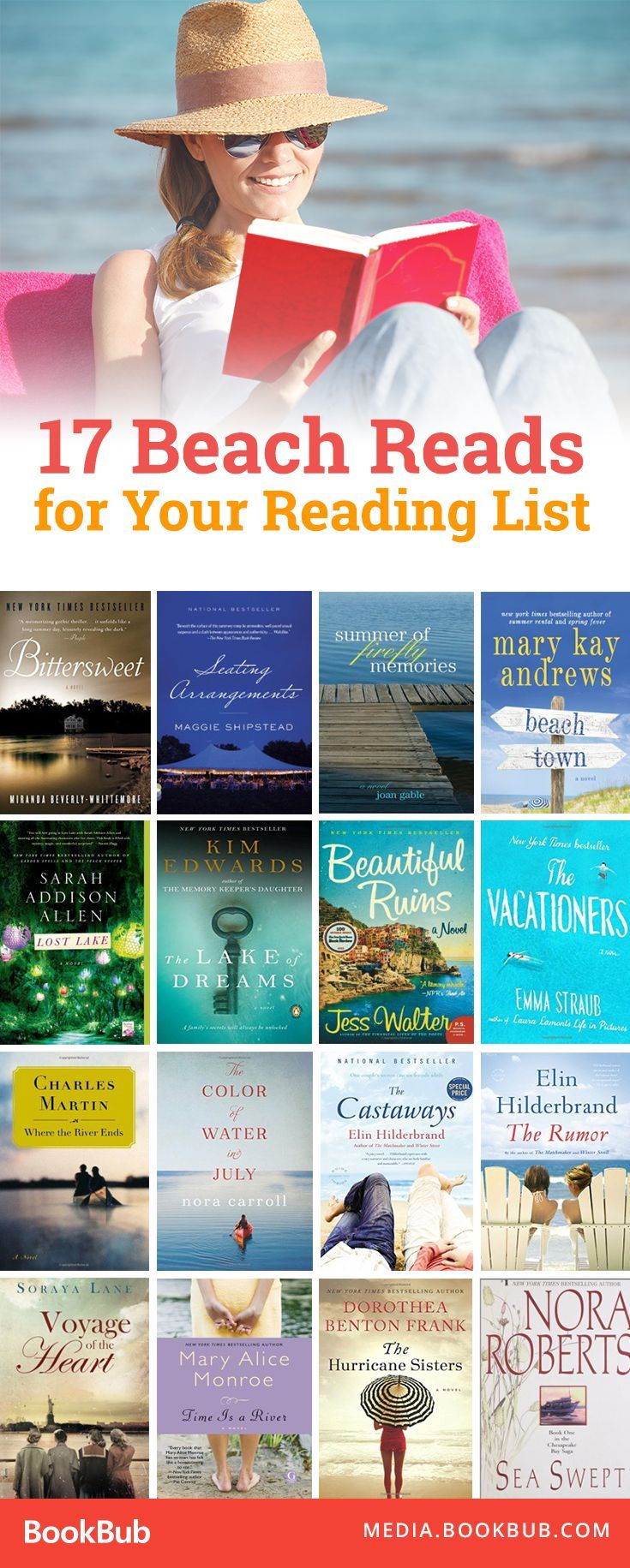 17 beach reads to add to your summer reading list! These are perfect choices for summer 2017.