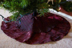 Two-tiered Luxe Christmas Tree Skirt