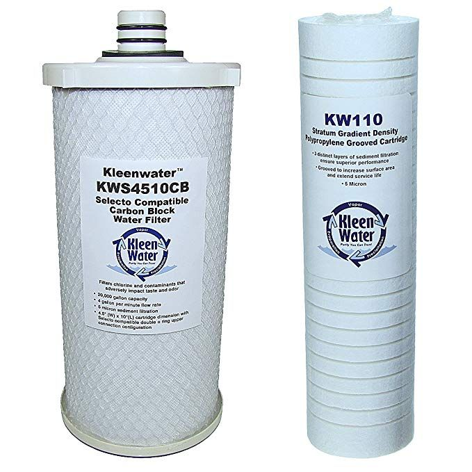 5 Micron by KleenWater 2.5 x 20 Inch String Wound Water Filter Cartridges 6