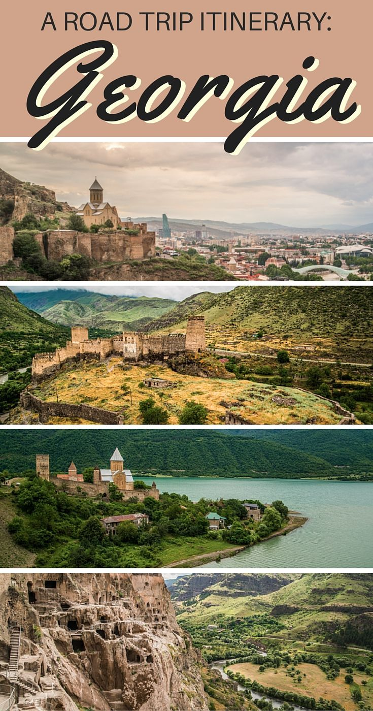 THE GREAT GEORGIAN ROAD TRIP. An itinerary for anyone planning to travel in Georgia, a land filled with castles, cave dwellings, churches, ruins, and majestic mountain ranges. This itinerary starts in Tbilisi and takes you a journey around Georgia.
