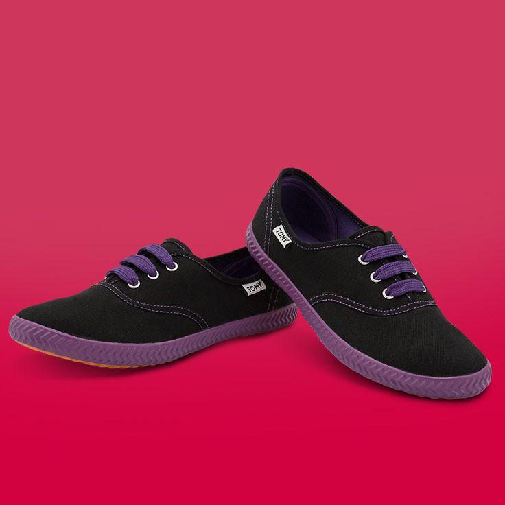 Tomy Original Low Neon Black/Purple