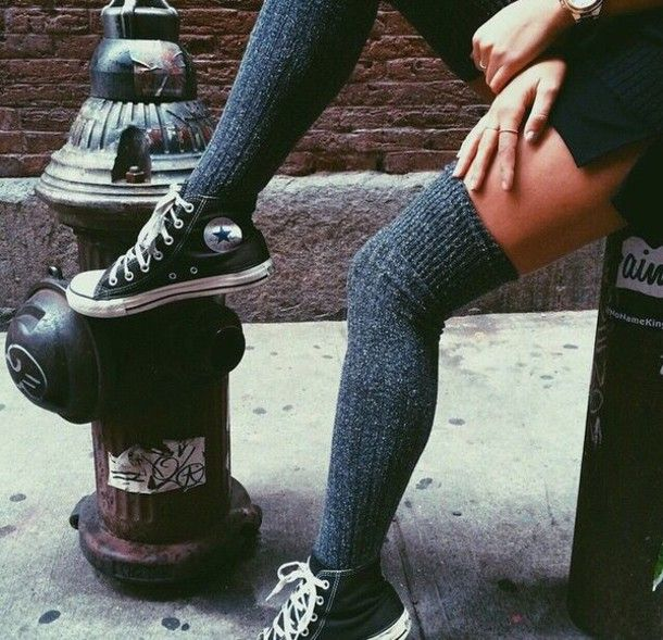 knee socks outfit converse - Buscar con Google