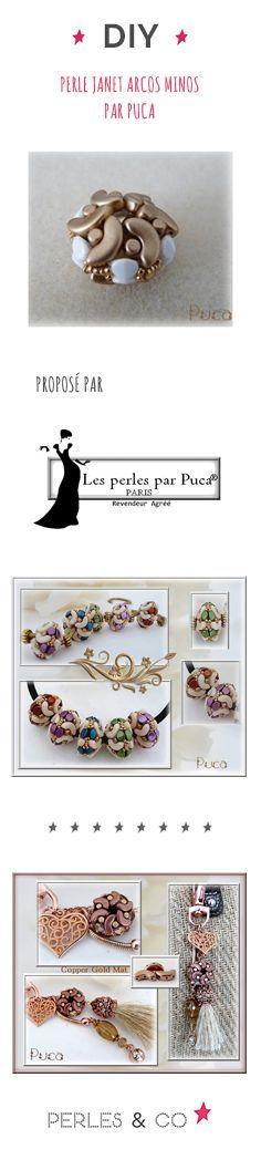 Vous aimez les perles en verre tchèques de Puca ®? Les Arcos ® et Minos ®?  Et bien ce tutoriel est fait pour vous! Réalisez cette perle nommée Janet, que vous pourrez utiliser ensuite dans vos créations ; collier, bijou de sac,...
