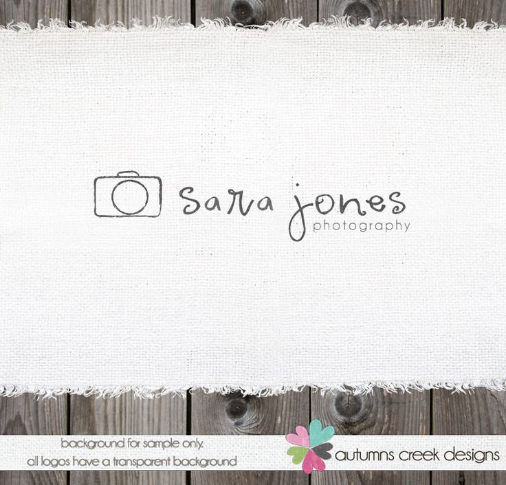 Photography Logo Premade Logo Design Camera Logo Watermark Design. $30.00, via Etsy.