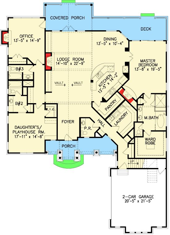 Shake, Stone and Timber Dream Home Plan - 15897GE   Architectural Designs - House Plans