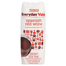 Tesco Everyday Value Spanish Red 25Cl - Groceries - Tesco Groceries