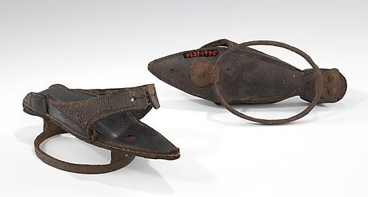 Pattens    Date:      18th century  Culture:      European  Medium:      leather; metal
