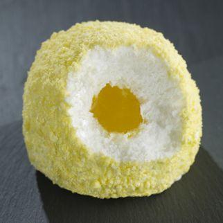 TARTUFO LEMONCELLO Single serving Lemon gelato with a liquid limoncello core sprinkled with crushed lemon meringue.