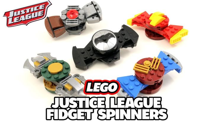 LEGO Justice League Fidget Spinner Toys (Batman, Flash, Wonder Woman, Aq...