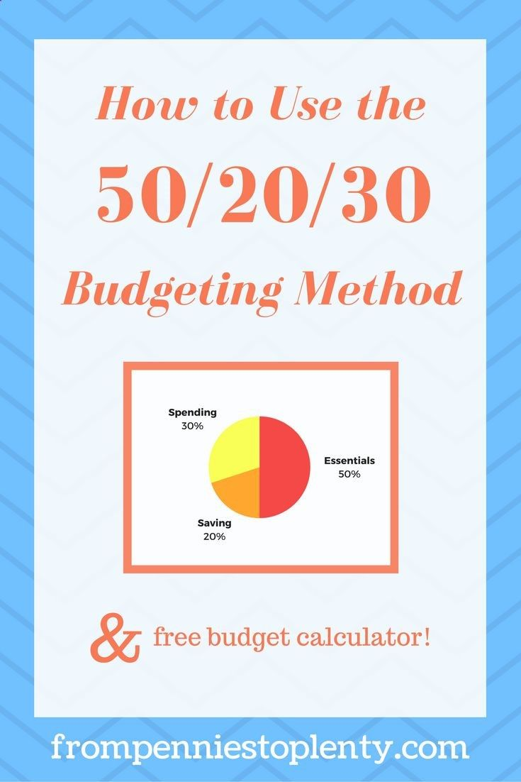 Learn how to use the 50/20/30 Budgeting method. Plus, get a free budget calculator to help you get started! / money management