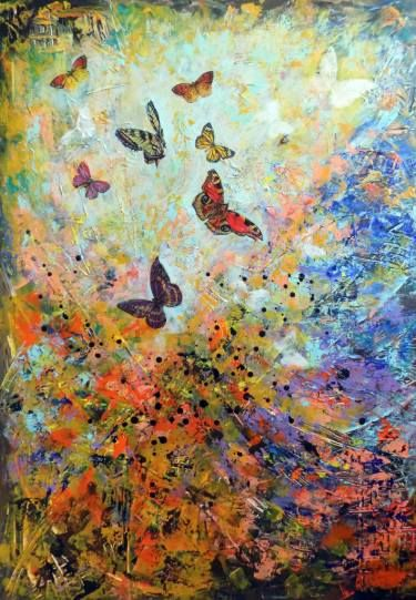 "Saatchi Art Artist Areti Ampi; Painting, ""Dance of butterflies"" #art"