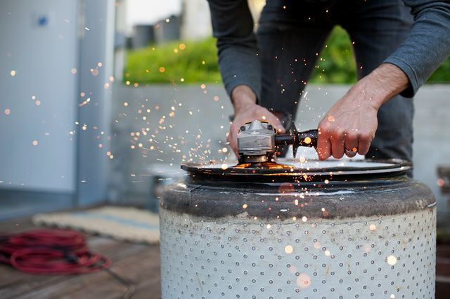 HOW TO TURN AN OLD WASHING MACHINE DRUM INTO A FIRE PIT