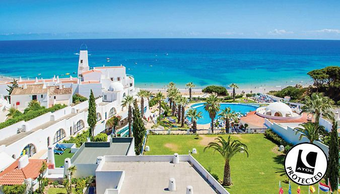 UK Holidays: Algarve, Portugal: 2-4 Night 5* Spa Hotel Stay With Flights - Up to 61% Off for just: £89.00 Revel in the sunny shores of the Algarve in Portugal for a 2-4 night stay      Stay at the 5* Grand Muthu Oura View Beach Club with sublime sea views      It's set amongst beautiful gardens overlooking the Atlantic Ocean      Take a break in the heated indoor swimming pool, outdoor pool,...