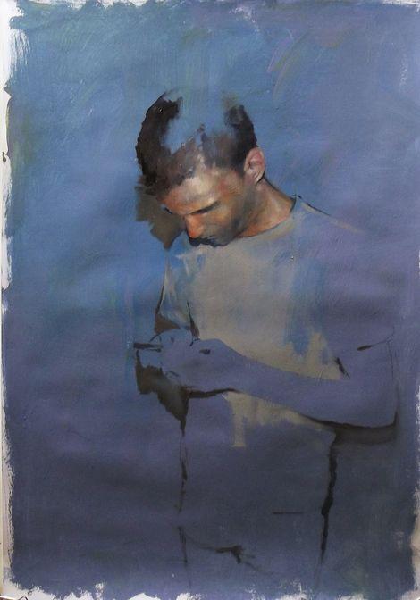 Szabolcs Szolnoki, Daniel, 70x50cm acryl and oil on paper 2013