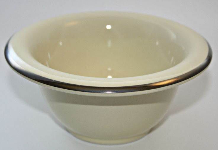 http://https://www.youtube.com/watch?v=Rj16M3Rc0pYBringing back the art of the wet shave with this beautiful porcelain shaving bowl with silver rim. Beauty, form and function for wet shaving with a solid shaving soap. Soaptree solid shaving soap fits perfectly in this beautiful bowl. Ladies, don't be shy about using a shaving soap bowl and brush. I use this all the time and get an incredibly close shave.
