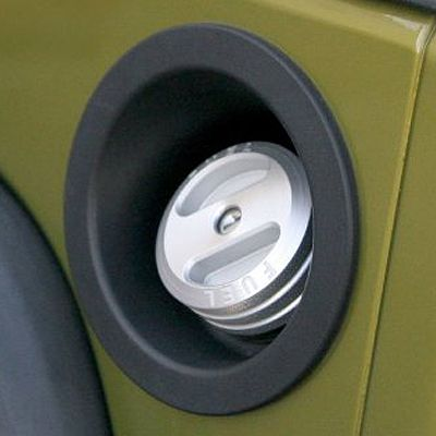 Drake Off Road Billet Aluminum Locking Fuel Cap for 01-16 Jeep Wrangler TJ, JK & JK Unlimited