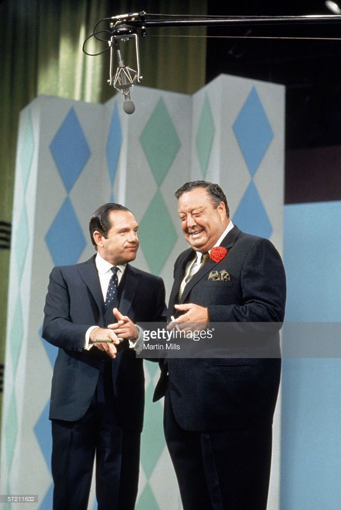 The Jackie Gleason Show, Alan King and Jackie Gleason perform for a television show circa 1960's.