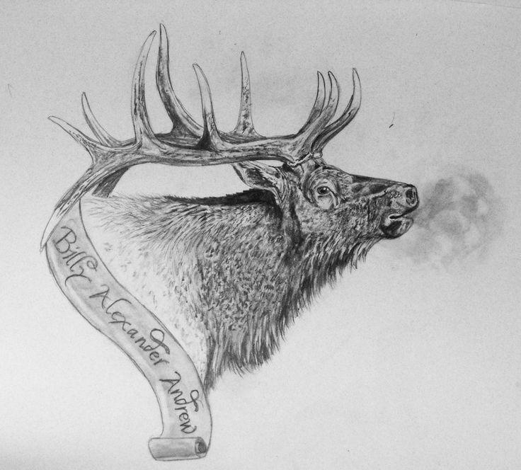 21 Best Elk Tattoos Images On Pinterest
