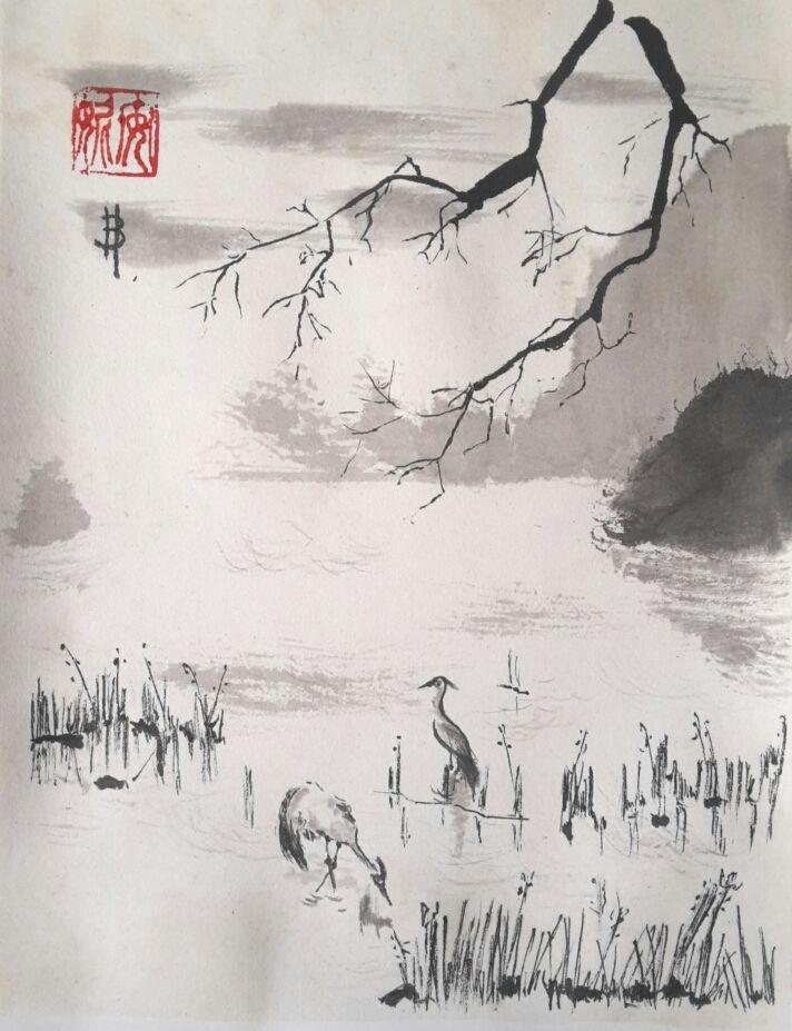 10 meilleures id es propos de peinture chinoise sur pinterest art asiatique art chinois et. Black Bedroom Furniture Sets. Home Design Ideas