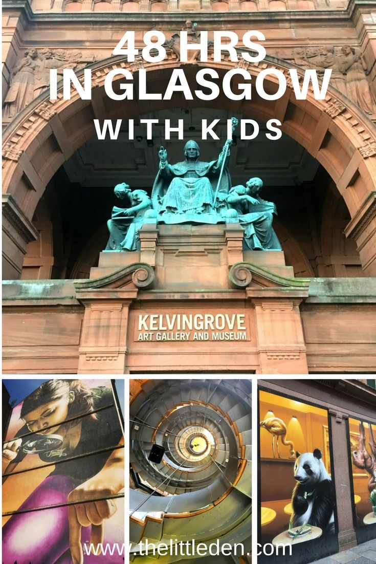 We've compiled a two day itinerary for anyone wishing to visit Glasgow with kids. There is SO much to see in this fantastic city – with and without kids – this is just a small taster of all the things there is to do.Glasgow is a city rich in culture, art, history and should definitely feature in your Scottish itinerary.   via @TheLittleDen