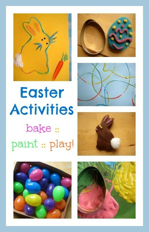 Lovely ideas for Easter activities for kids, whether they like to bake, paint or play.