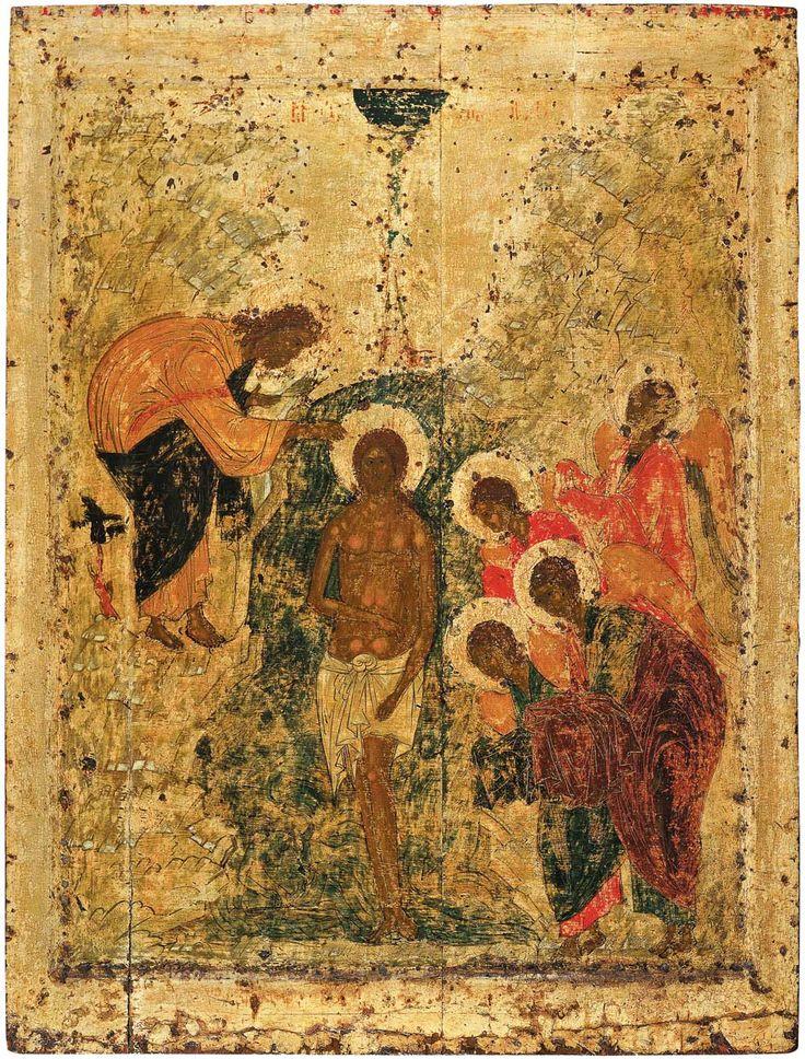 Праздничный чин Благовещенского собора. Рублев. Крещение