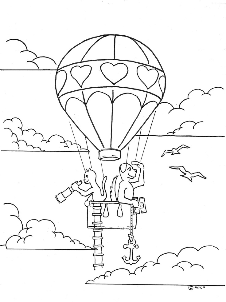 Coloring Pages for Kids by Mr Adron Dog And Cat In Love