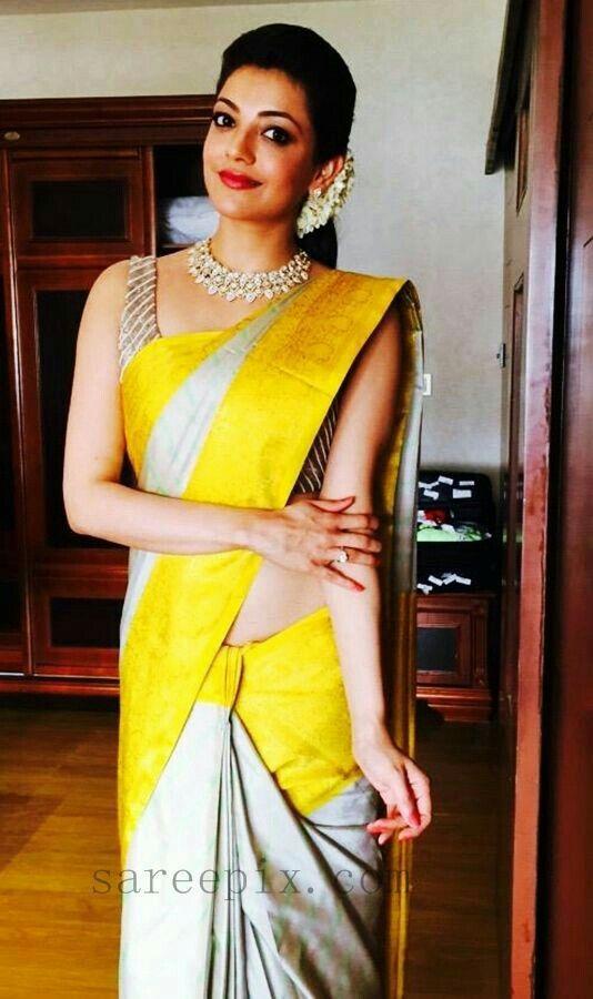 Kajal Aggarwal@Beautiful in Saree