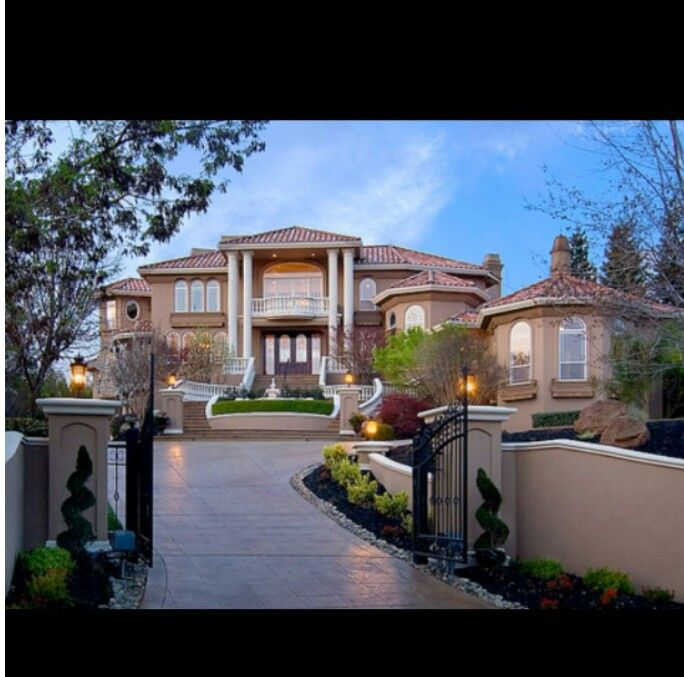 Grand home entrance  My Dream of a Home  House Home Decor Mansions