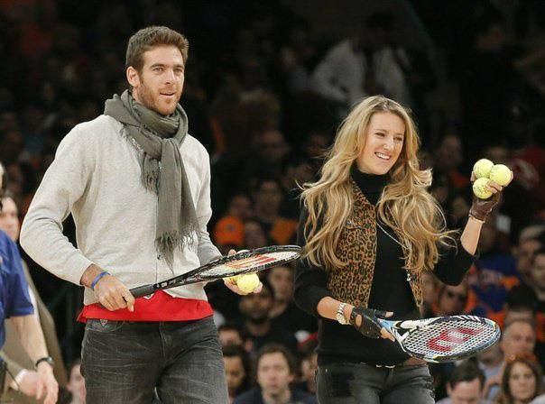 Hitting some balls into the crowd at the Knicks game with Delpo