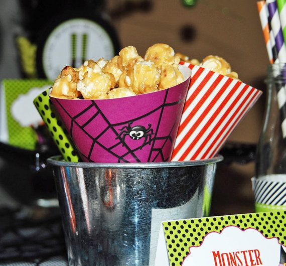 Printable Popcorn/Candy Cones   Spooktacular by PaintingParisPink, $4.00