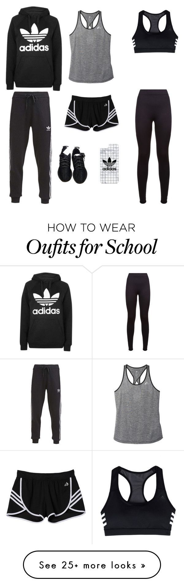 """My adidas outfit to school or the gym #soordering"" by jadelattes on Polyvore featuring adidas, Topshop, adidas Originals and Casetify"
