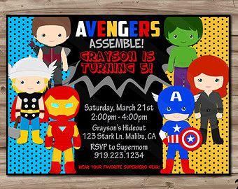 superhero birthday invite