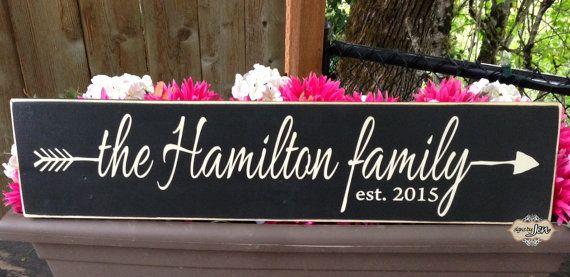 Family Established Sign arrow established date by SignsbyJen