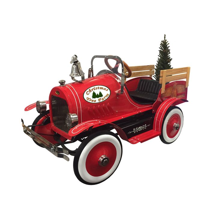 Christmas Tree Delivery Truck Pedal Car How adorable is this Christmas Tree Delivery Truck pedal car? Your little one will spend hours making holiday deliveries! DETAILS: - Wooden Rails - Working Bell