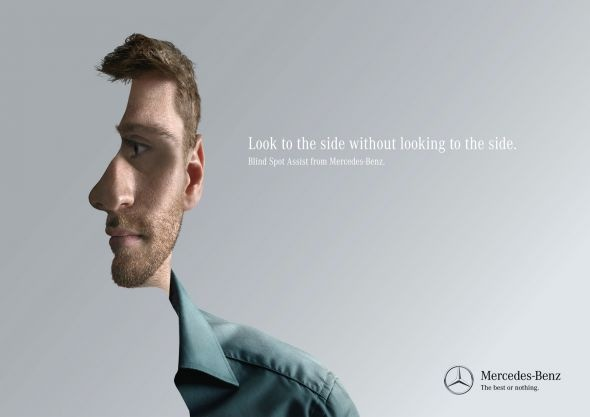 Mercedes blind spot assist: Man, 3