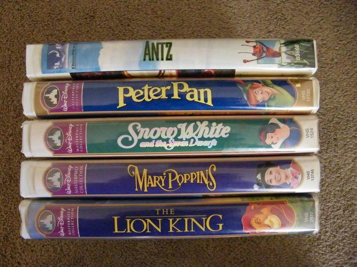 Lot 5 Vtg VHS TAPES  Kids, Family Movies, DISNEY & DreamWorks